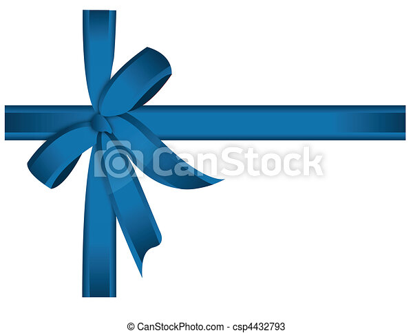 blue cross ribbon and bow - csp4432793