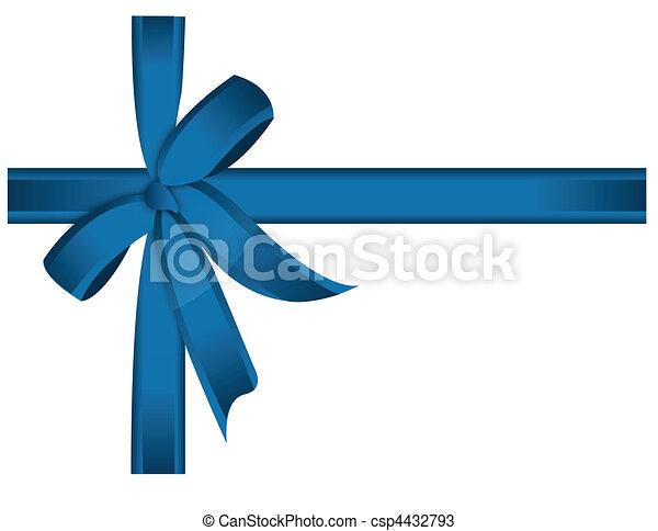 blue cross ribbon and bow - csp4432793