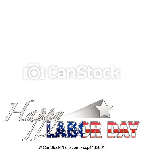 Happy Labor Day - csp4432801