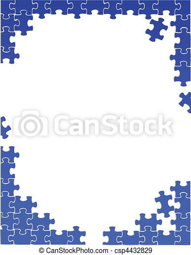 Border puzzle template - csp4432829