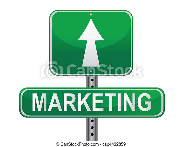 Marketing Strategy sign - csp4432859