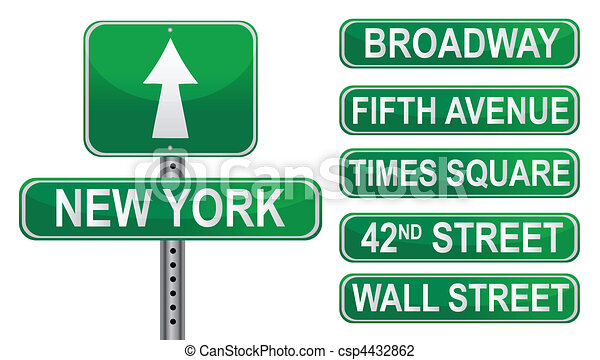 New York Street signs - csp4432862