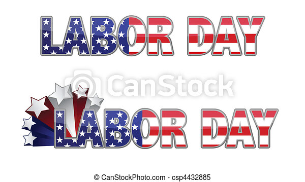 Clipart Vector of Labor Day. csp4432885 - Search Clip Art ...