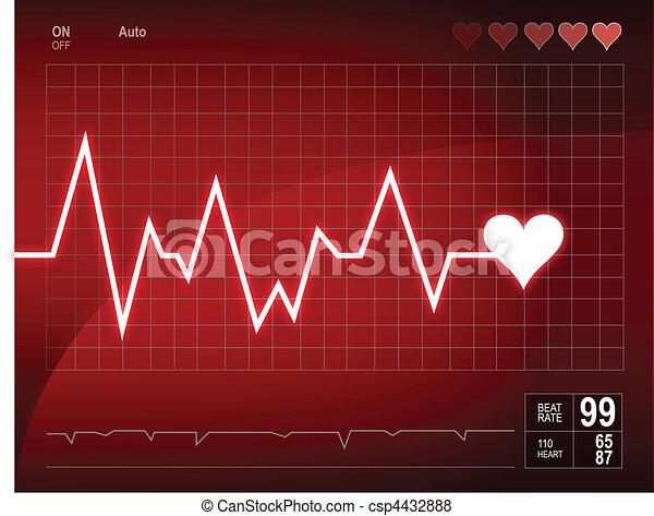 Heart beat - csp4432888