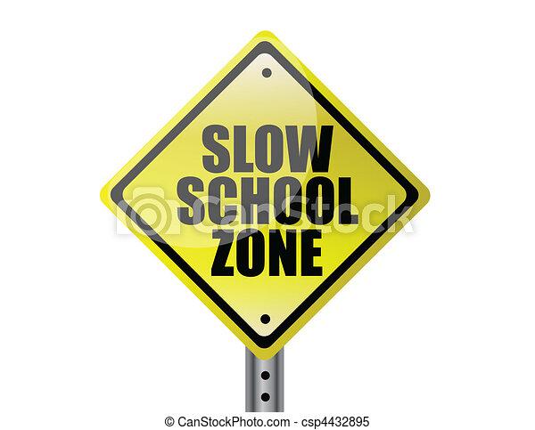 Slow school zone - csp4432895