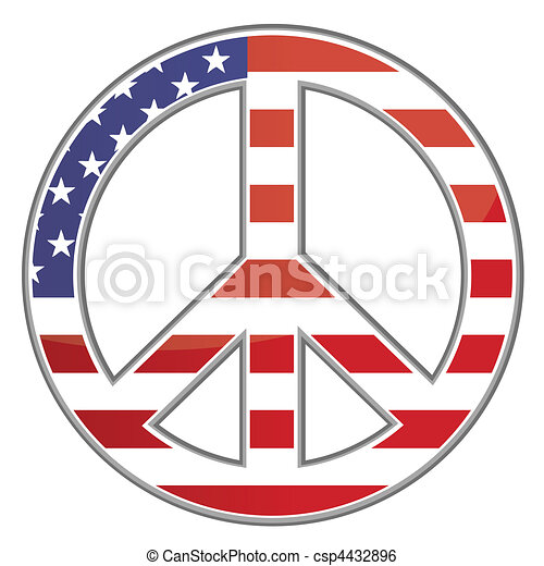 Peace sign / USA / Vector - csp4432896