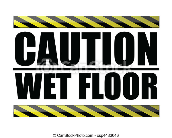 Caution wet floor - csp4433046