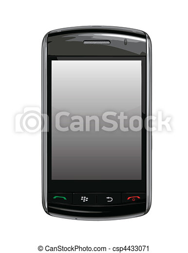 Vector cell phone / PDA  Blackberry - csp4433071