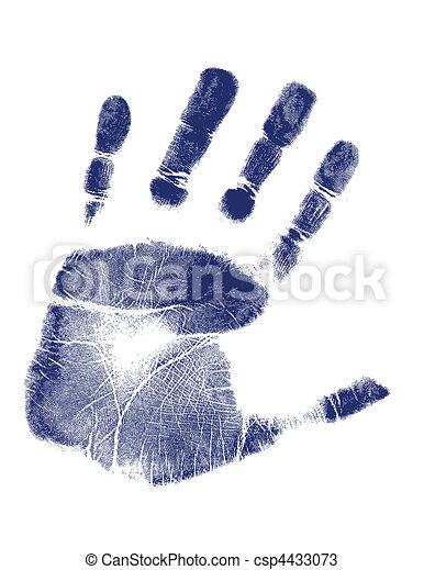 Hand print / Vector - csp4433073