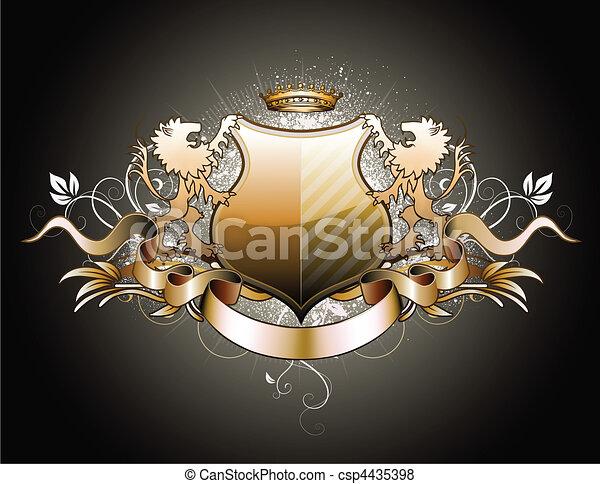 heraldic shield - csp4435398