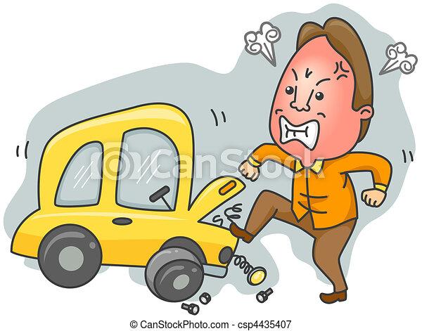 Cartoon Repair Car