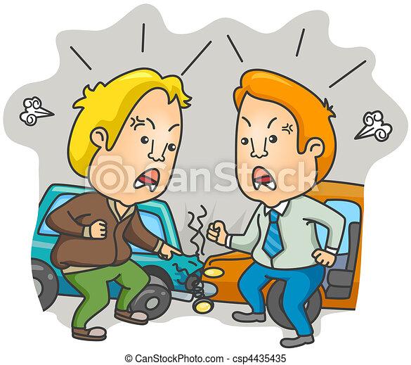 Stock de Ilustrationes de coche, accidente - dos, Conductores ...