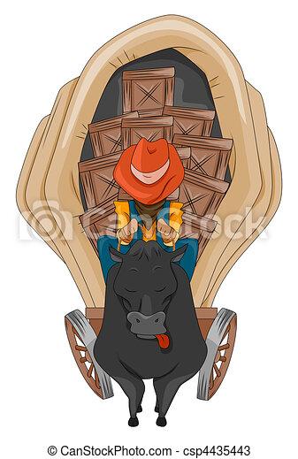 Wild West Wagon - csp4435443