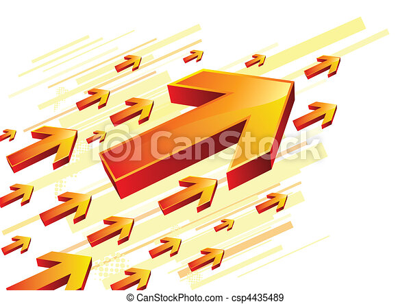 red arrow - csp4435489