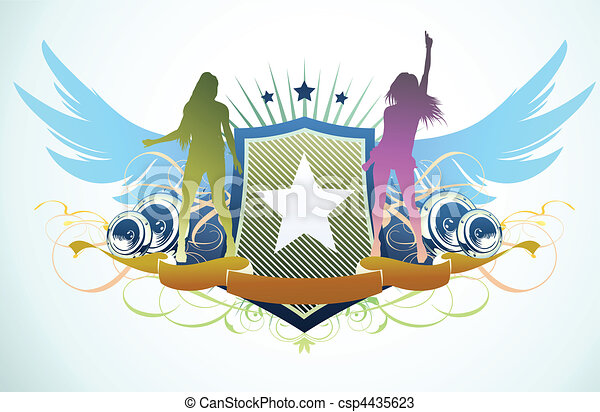 abstract party insignia  - csp4435623