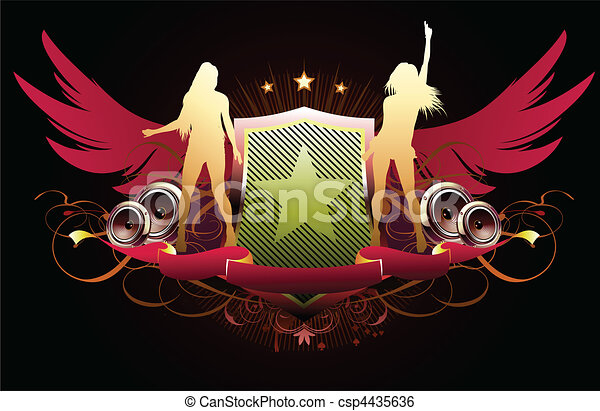 abstract party insignia - csp4435636