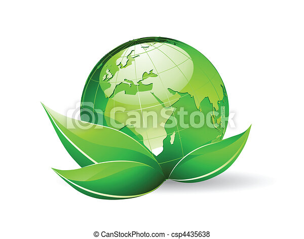 Glossy Earth Map Globe - csp4435638