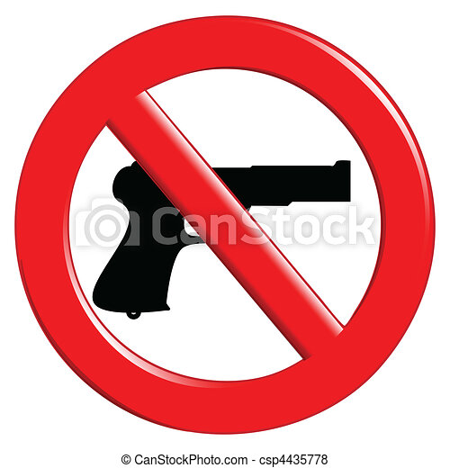 Sign of prohibited weapons - csp4435778