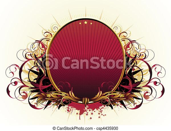 luxury floral frame - csp4435930