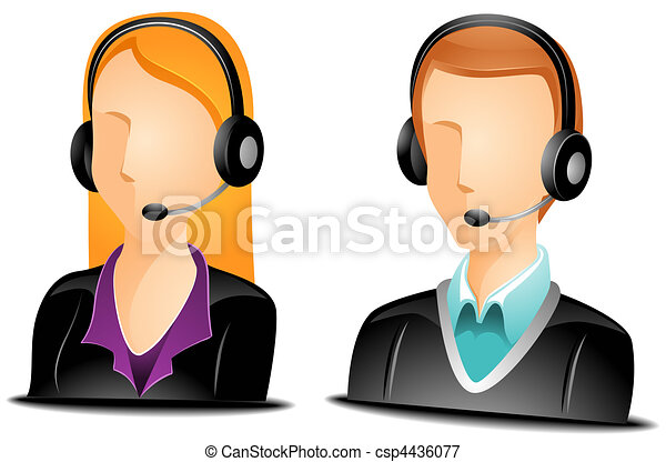Call Center Agent Avatars - csp4436077