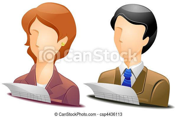 Accountant Avatars - csp4436113