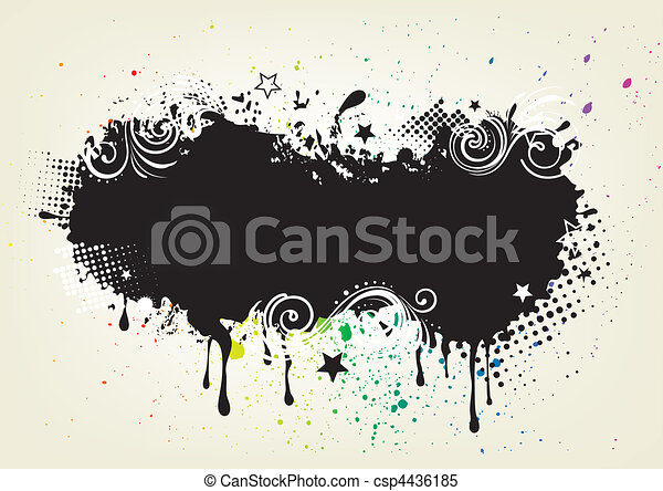 grunge ink background - csp4436185