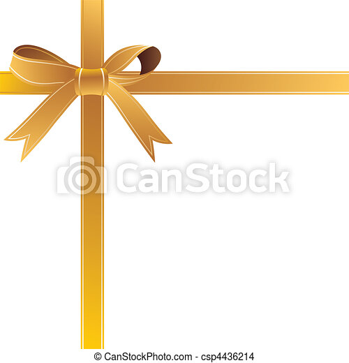 gold gift bow - csp4436214