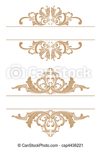decorative border - csp4436221