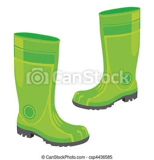 isolated rubber boots - csp4436585