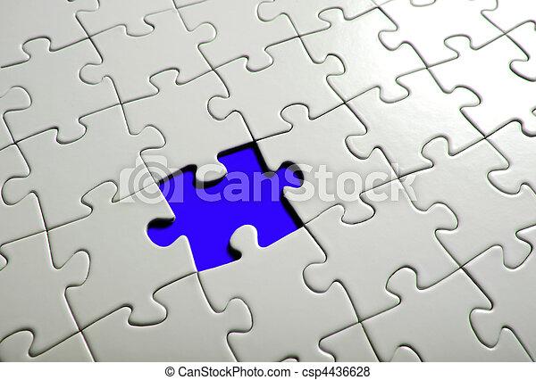 Missing puzzle  piece, focus around the empty space. - csp4436628