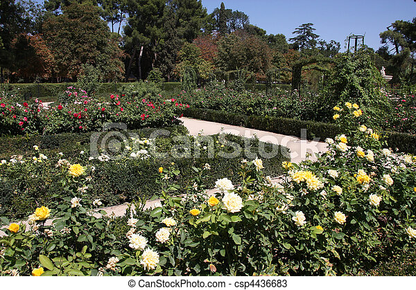 Madrid botanical gardens - csp4436683