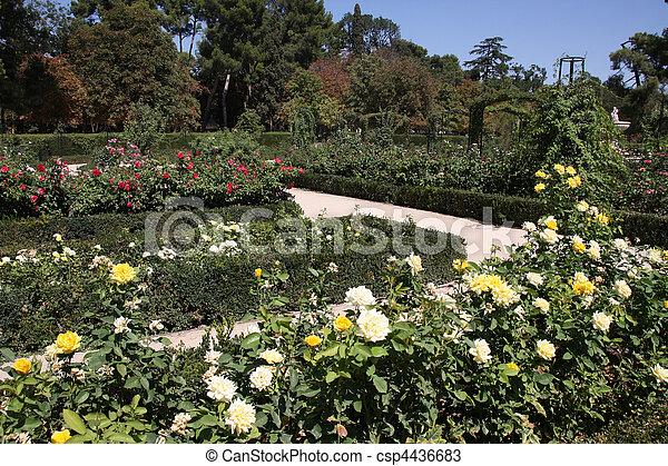 Madrid botanical gardens - csp4436683