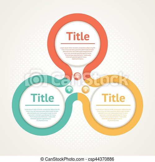 Vector circle infographic. Template for diagram, graph, presentation and chart. Business concept with three options, parts, steps or processes. Abstract background. - csp44370886