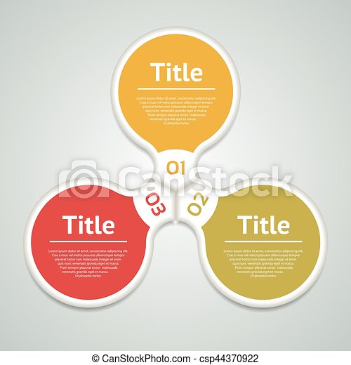 Vector circle infographic. Template for diagram, graph, presentation and chart. Business concept with three options, parts, steps or processes. Abstract background. - csp44370922