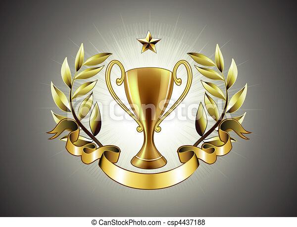 golden Trophy - csp4437188
