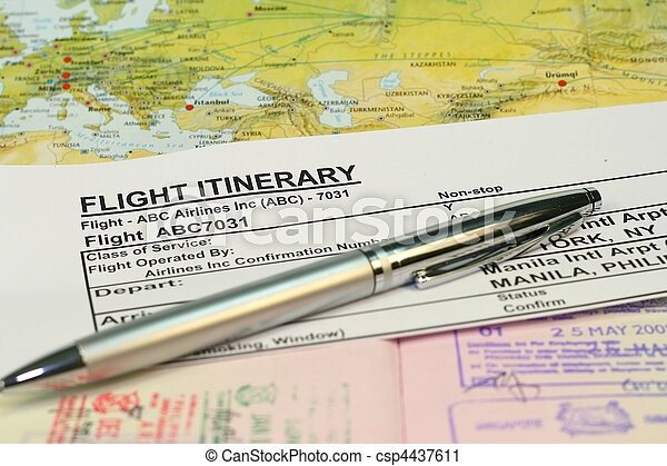 how to get flight itinerary