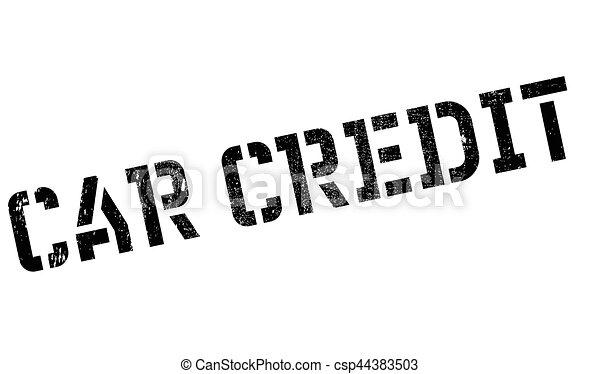 Car Credit rubber stamp - csp44383503