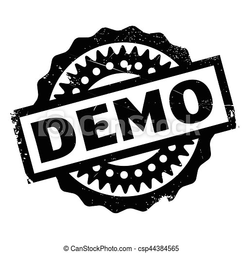 Clip Art Vector of Demo rubber stamp. Grunge design with dust ...