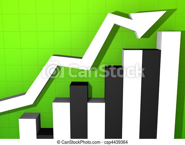 rising statistic - csp4439364
