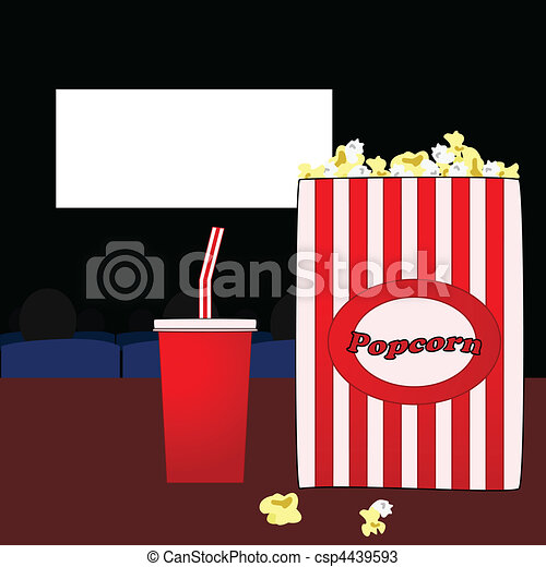 Vectors of In the movies - Illustration of a popcorn bag ...