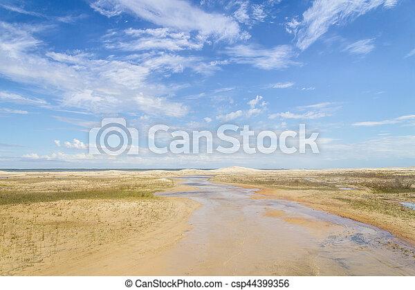 Dunes in the Lagoa do Peixe lake - csp44399356