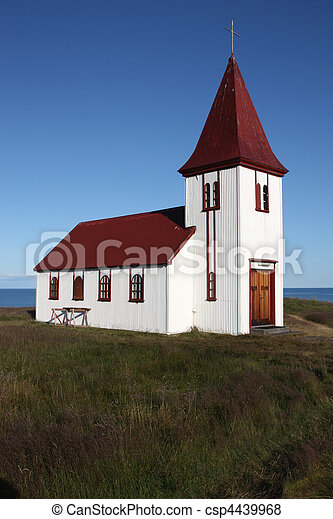 White church - csp4439968