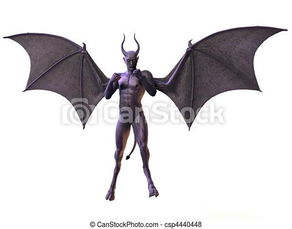 Illustration de horreur diable figure 3 d render - Dessin horreur ...