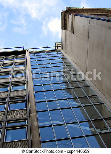 Stairwell on Modern Office Building in Liverpool - csp4440659