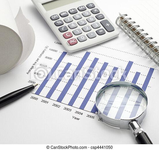 business graph chart  - csp4441050