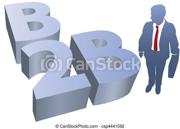 B2B Business man ecommerce - csp4441592