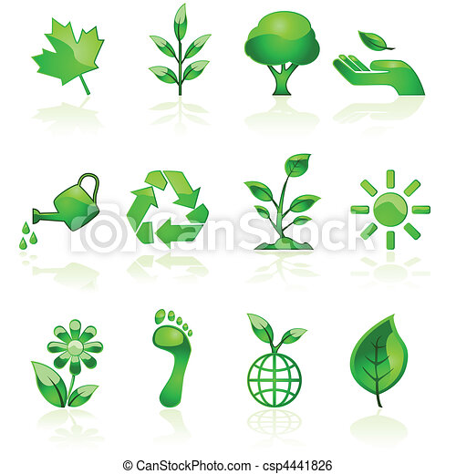Green environmental icons - csp4441826