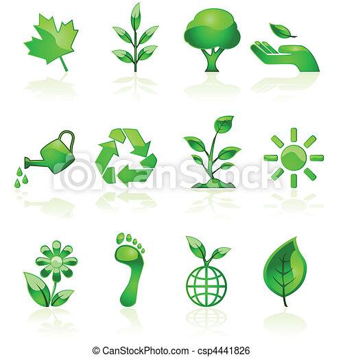 Green environmental icons - csp4441826