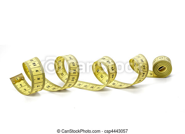 measure tape tailor diet fitness length weight - csp4443057