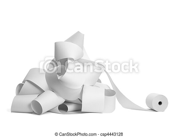roll of paper accounting office business  - csp4443128